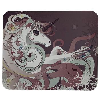 White Unicorn Horse Mouse Pat Mat