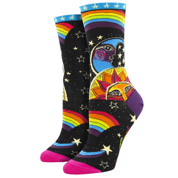 Laurel Burch Celestial Joy Women's Crew Socks