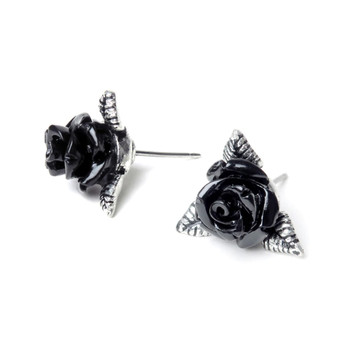 E447 - Ring O'Roses Ear Studs side view