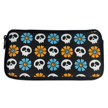 Skull and Daisy Cosmetic Makeup Bag