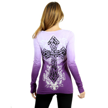Vocal Apparel Special Dyed Long Sleeve Shirt back view