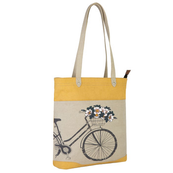 Mona B Trust The Journey Tote Bag side view