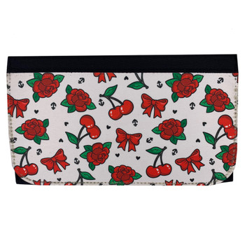 Cherries, Bows and Red Roses Women's Wallet