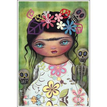 Abril Andrade Muertos Fest Art Print