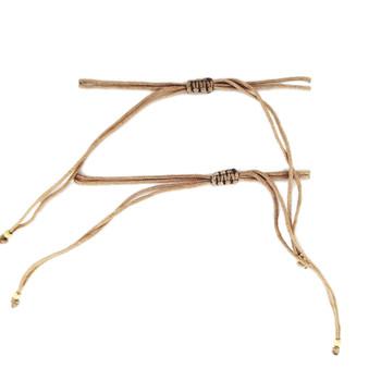 Backside knotted beaded friendship bracelets.