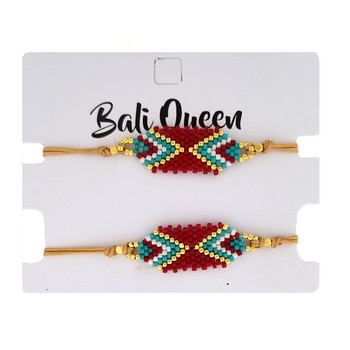 Southwest design beaded friendship bracelet 2-pack.