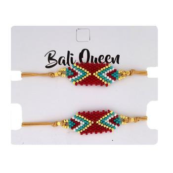 Southwest design beaded friendship bracelet 2-pack.