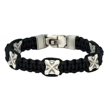 Bico Pacific YOLO Black Braided Cord Bracelet