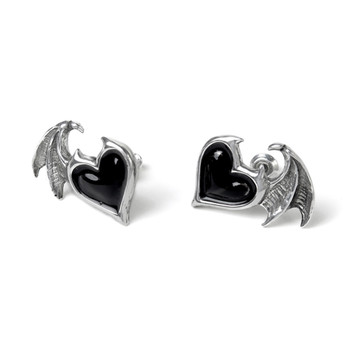 Alchemy Gothic E444 - Blacksoul Ear Studs side view