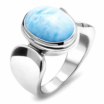 Caressa Larimar sterling silver ring.