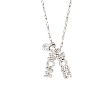 BOSS MOM charm sterling silver necklace.