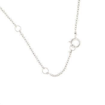 Clasp of eight star sterling silver necklace.