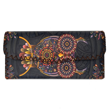 Bohemian Owl Leatherette Clutch Wallet
