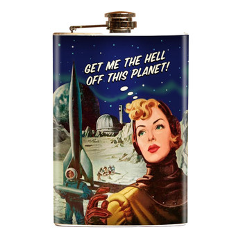 Get Me Off This Planet Stainless Steel Flask
