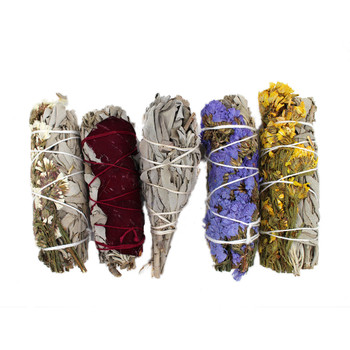 5-pack hand wrapped California sage wands.