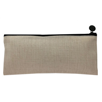 Linen Cosmetic Bag back view