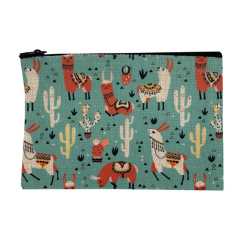 Southwestern Llama Drama Small Cosmetic Bag