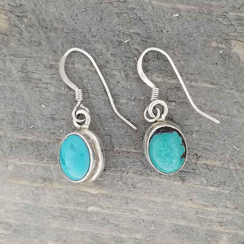 Sterling silver blue Turquoise dangle earrings.