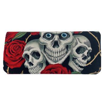 Skull and Roses Tattoo Wallet