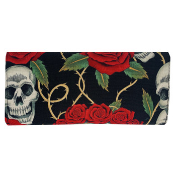 Skull and Roses Tattoo Wallet back view
