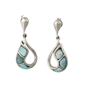 Larimar sterling silver earrings.