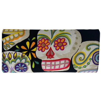 Glitter Sugar Skulls Trifold Wallet back view