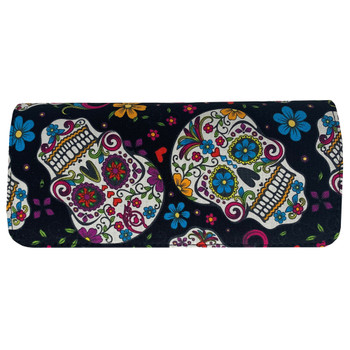 Multi Sugar Skull Trifold Wallet