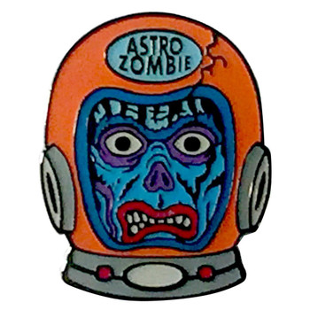 Deep Space Astro Zombie Enamel Pin
