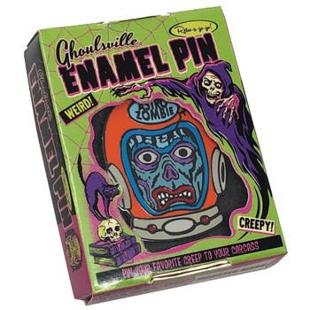 Astro Zombie Enamel Pin Collector Box