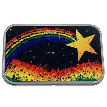 Rainbow Star Small Metal Tin Box