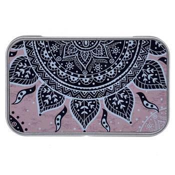 Mandala Sun Small Metal Tin Box