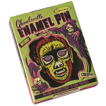 Electric Wolfman Enamel Pin Collectible Box