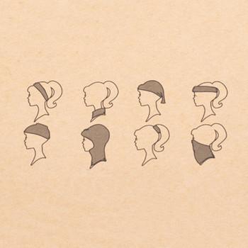How to wear the headband.