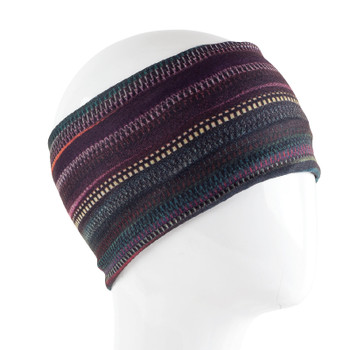 Dark striped multi colored headbands.