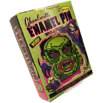 Fish Face Creepy Enamel Pin Collectible Box