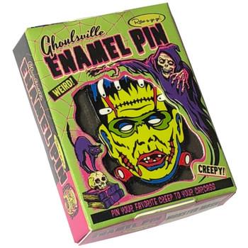 Lil' Frankie Frankenstein Enamel Pin Collectible Box