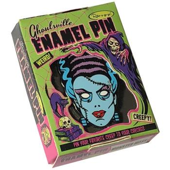 Nightmare Bride of Frankenstein Enamel Pin  Collectible Box