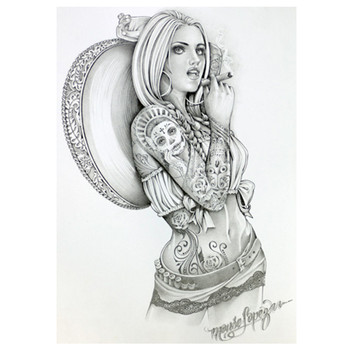 Adri Charra by Mouse Lopez Canvas Giclee