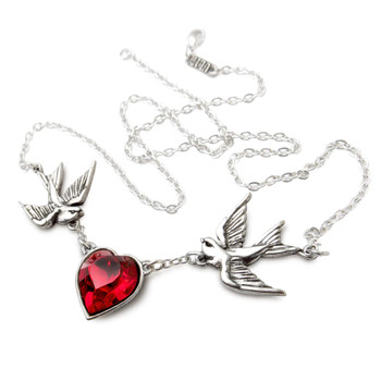 ULFP1 - Swallow Heart Necklace chain view