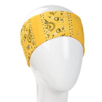 Yellow bandana infinity headband.