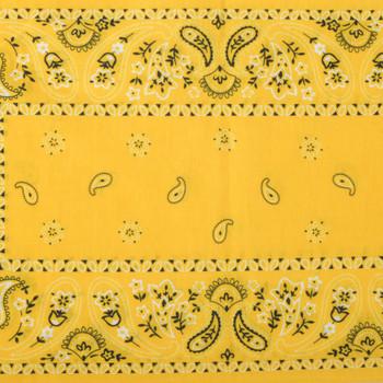 Design of yellow bandana infinity headband.