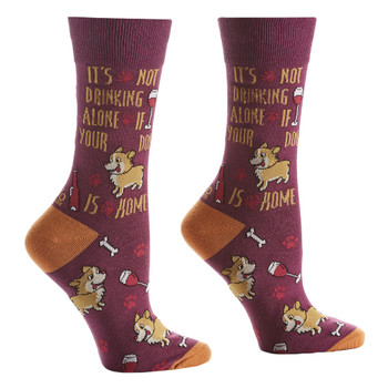 Fur Baby Drinking Buddy Women's Crew Socks