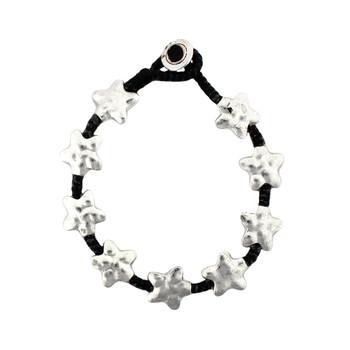 Silver star alloy bracelet.