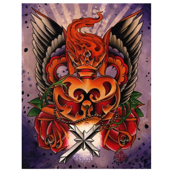 Sacred Heart by 2 Cents Canvas Giclee