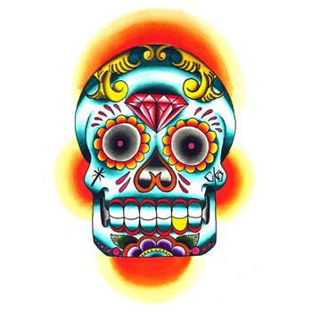 Rone Skull Canvas Giclee Art Print