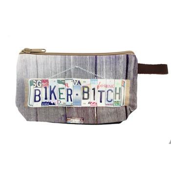 Biker Bitch make-up bag.