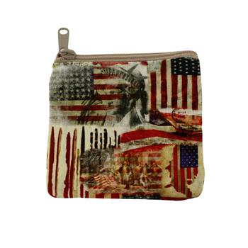 Small American Flag coin purse.