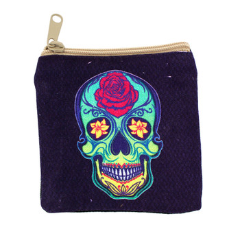 Small Day of the Dead coin purse.
