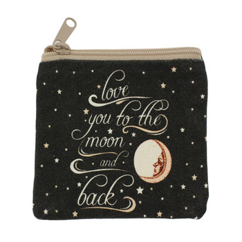 Love You To The Moon and Back small coin purse.