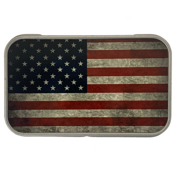 USA Flag Small Metal Storage Box